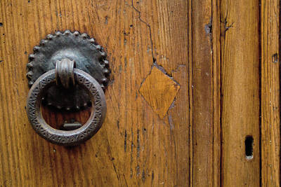 Photograph - Iron Knocker With Key Hole by Michael Flood