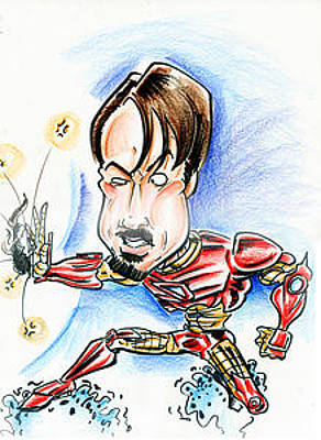 Ironman Porody Drawing - Iron Man by Big Mike Roate