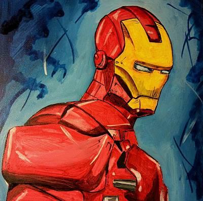 Painting - Iron Man by Chris  Leon