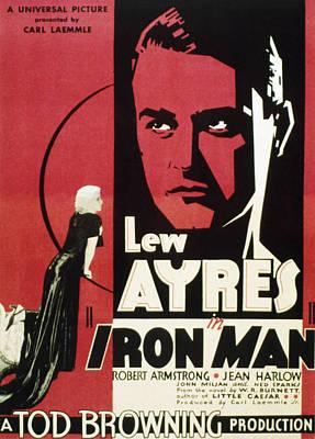 Iron Man, Jean Harlow, Lew Ayres, 1931 Print by Everett