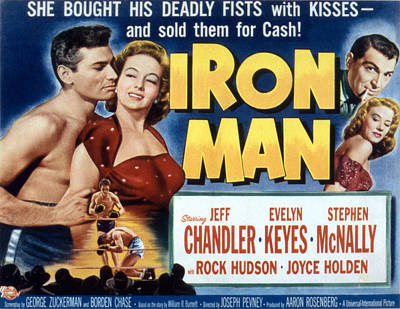 Fid Photograph - Iron Man, Jeff Chandler, Evelyn Keyes by Everett