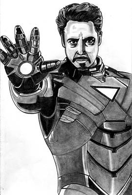 Iron Man Art Print by Ralph Harlow