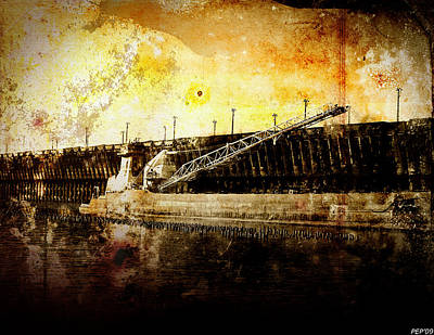 Loading Ship Digital Art - Iron Ore Freighter by Phil Perkins