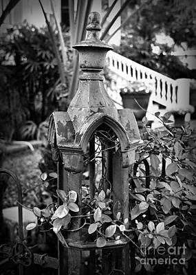Fleur De Lis Photograph - Iron Post Detail by Perry Webster