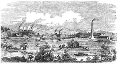 Montour Photograph - Iron Works, 1855 by Granger