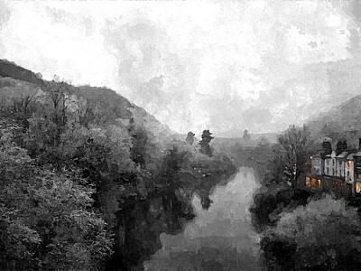 Ironbridge Winter Art Print