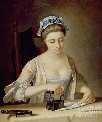 Laundry Painting - Ironing by Henry Robert Morland