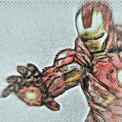Stroke Wall Art - Photograph - #ironman #monet #brush #stroke by Antonio DeFeo