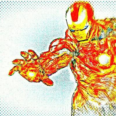 Stroke Wall Art - Photograph - #ironman #redone With #monet #brush by Antonio DeFeo