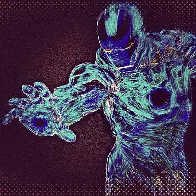 Stroke Wall Art - Photograph - #ironman #remix #heatmap #filter After by Antonio DeFeo