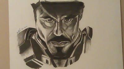 Ironman Drawings Drawing - Ironman by Shawn Brooks