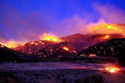 Photograph - Ironwood Fire by SB Sullivan
