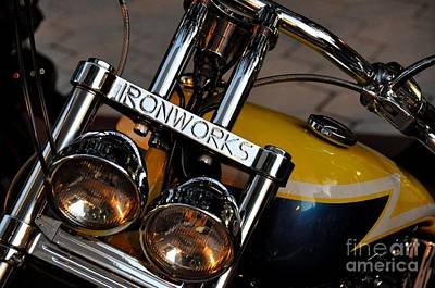 Photograph - Ironworks Custom Motorcycle by John Black