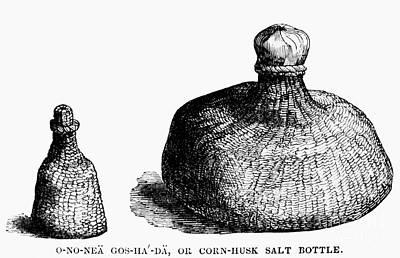 Stopper Photograph - Iroquois Salt Bottles by Granger