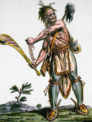 Iroquois Warrior Art Print by Granger