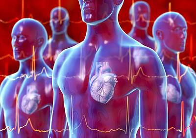 Irregular Heartbeat, Conceptual Artwork Print by David Mack