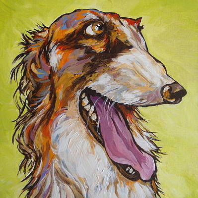 Canine Painting - Is That A Treat? by Sandy Tracey
