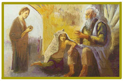 Painting - Isaac Blessing Of Jacob by Suzanne Giuriati-Cerny