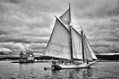 Windjammer Photograph - Isaac H. Evans by Fred LeBlanc