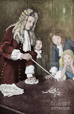 Isaac Newton, English Polymath Art Print by Science Source