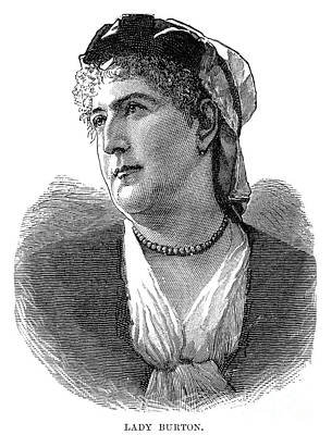 Isabel Burton (1831-1896) Art Print by Granger
