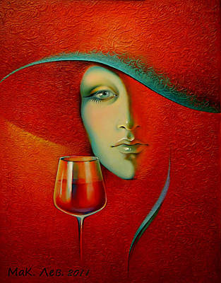 Glass Of Wine Painting - Isabella. by Elena  Makarova-Levina