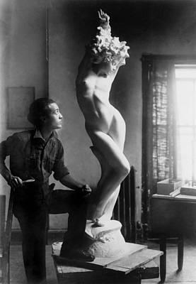 Bsloc Photograph - Isamu Noguchi 1904-1988 Standing by Everett