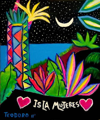 Painting - Isla Mujeres by Ted Hebbler