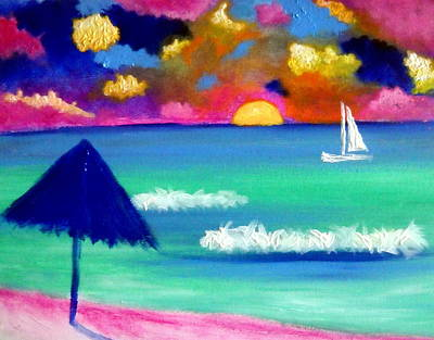 Painting - Isla Sunset by Ted Hebbler