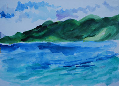 Islands Painting - Island Landscape by Rufus Norman