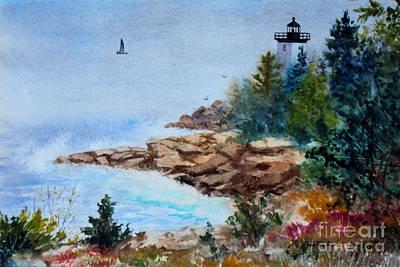 Island Light Art Print by Laura Tasheiko