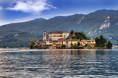 Boat House Photograph - Island Of San Giulio by Joana Kruse