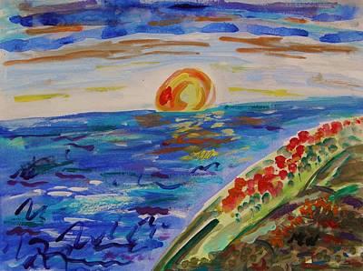 Island Poppy Sundown Art Print by Mary Carol Williams