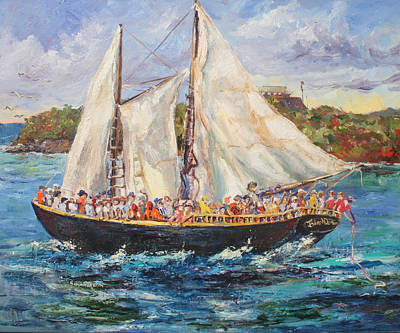 Steele Painting - Island Queen by Susan Mains