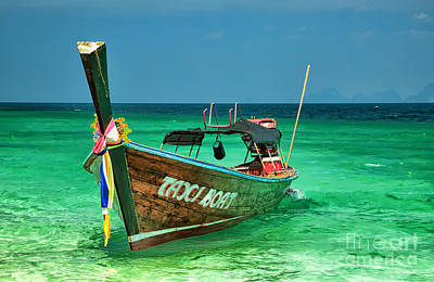 Coastline Digital Art - Island Taxi  by Adrian Evans