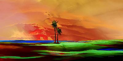 Digital Art - Island Time by Wally Boggus