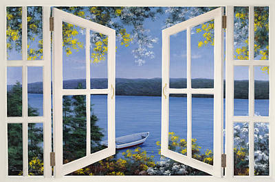 Painting - Island Time Window by Diane Romanello