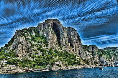 Isle Of Capri Limestone Cliffs Art Print by Jon Berghoff