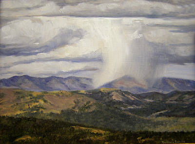 Isolated Showers Art Print by Victoria  Broyles