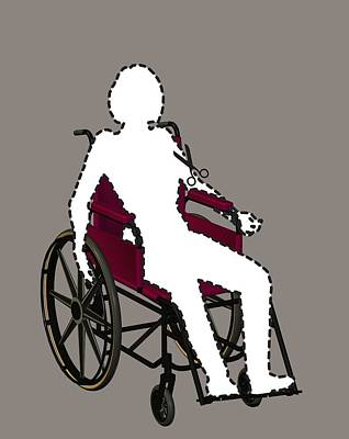 Isolation Through Disability, Artwork Art Print by Stephen Wood