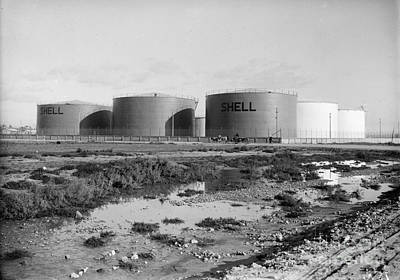 Photograph - Israel: Oil Tanks, C1934 by Granger