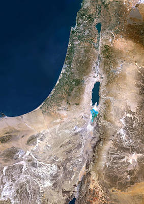 Israel, Satellite Image Art Print