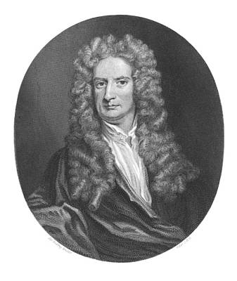 Issac Newton, English Physicist Art Print by Middle Temple Library