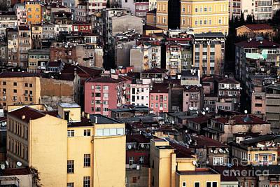 Istanbul Cityscape Vii Art Print by John Rizzuto