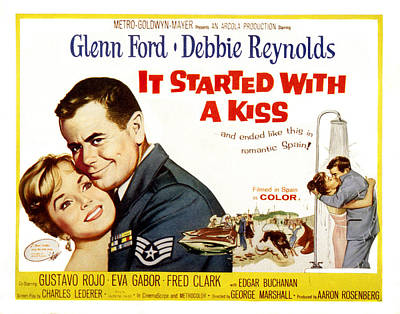 Fid Photograph - It Started With A Kiss, Glenn Ford by Everett
