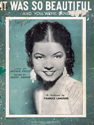Old Sheet Music Photograph - It Was So Beautiful by Mel Thompson