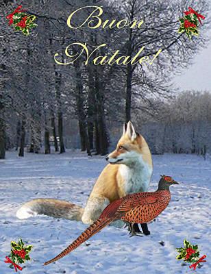 Pheasant Mixed Media - Italian Christmas Fox by Eric Kempson