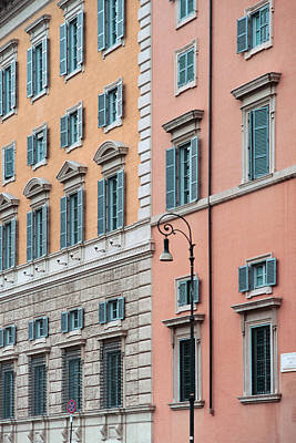 Photograph - Italian Facade by Mark Greenberg