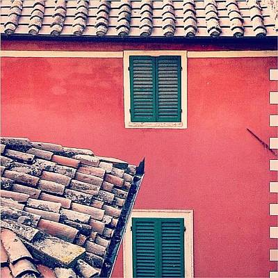 Italian Geometry #house #shutters Art Print