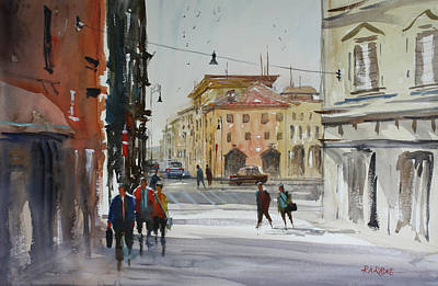 City Streets Painting - Italian Impressions 2 by Ryan Radke